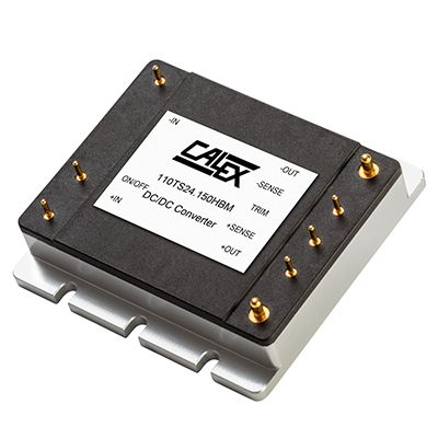 150 Watt HBM Series 1/2 brick Encased DC/DC Converter with 4:1 input voltage