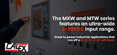 Calex Manufacturing, MXW and MTW series of DC-DC converters for industrial, e-mobility and robotics